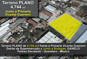 Foto de terreno comercial en venta en vicente guerrero , pedro escobedo centro, pedro escobedo, querétaro, 14137642 No. 01
