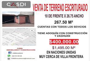 Foto de terreno comercial en venta en villa frontera 0, infonavit villa frontera, puebla, puebla, 9282574 No. 01