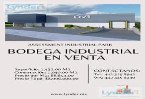 Foto de nave industrial en venta en  , villas de la corregidora, corregidora, querétaro, 12040886 No. 01