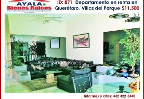 Foto de departamento en renta en villas del parque 222, villas del parque, querétaro, querétaro, 0 No. 01