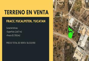 Foto de terreno habitacional en venta en  , yucalpeten, mérida, yucatán, 19063505 No. 01