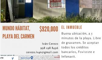 Foto de casa en venta en Mundo Habitat, Solidaridad, Quintana Roo, 21716855,  no 01