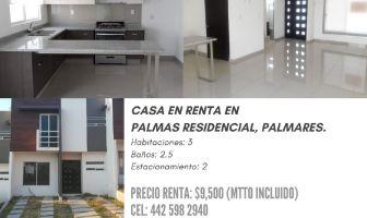 Foto de casa en condominio en renta en Palmares, Querétaro, Querétaro, 13628292,  no 01