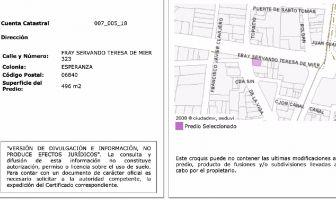 Foto de terreno habitacional en venta en Esperanza, Cuauhtémoc, Distrito Federal, 7180169,  no 01