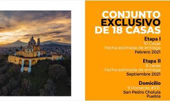 Foto de casa en venta en 9 poniente 1111, santiago mixquitla, san pedro cholula, puebla, 12622983 No. 01
