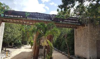 Foto de terreno habitacional en venta en aldea coral , ciudad chemuyil, tulum, quintana roo, 20136020 No. 01