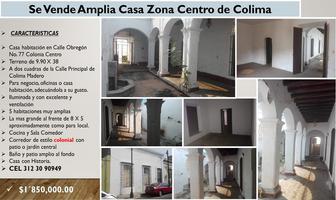 Foto de casa en venta en alvaro obregón 77, colima centro, colima, colima, 0 No. 01