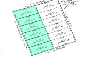 Foto de terreno habitacional en venta en avenida fundadores de tulum , la veleta, tulum, quintana roo, 8784691 No. 01