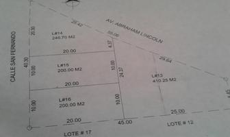 Foto de terreno comercial en renta en avenida lincoln 100, premier lincoln, monterrey, nuevo león, 0 No. 01