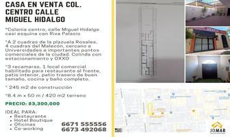 Foto de casa en venta en calle miguel hidalgo , centro, culiacán, sinaloa, 0 No. 01