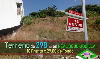 Foto de terreno habitacional en venta en cascada de aguazul , real de juriquilla (diamante), querétaro, querétaro, 0 No. 01
