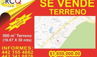 Foto de terreno habitacional en venta en Bosques de las Lomas, Querétaro, Querétaro, 5197526,  no 01