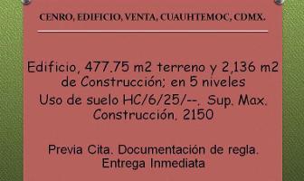 Foto de edificio en venta en  , centro (área 4), cuauhtémoc, distrito federal, 6734692 No. 01