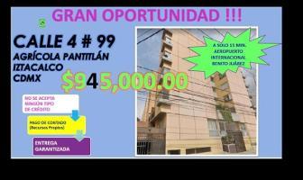 Foto de departamento en venta en cuatro 99, agrícola pantitlan, iztacalco, df / cdmx, 12653140 No. 01