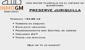 Foto de terreno habitacional en venta en Juriquilla, Querétaro, Querétaro, 19825286,  no 01