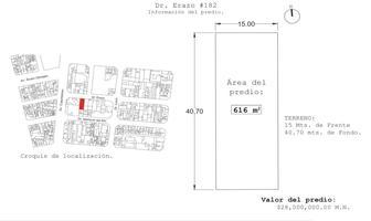 Foto de terreno habitacional en venta en doctor erazo , doctores, cuauhtémoc, df / cdmx, 19150804 No. 01