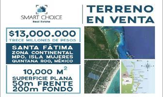 Foto de terreno habitacional en venta en  , isla blanca, isla mujeres, quintana roo, 11816116 No. 01