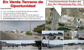 Foto de terreno comercial en venta en libramiento poniente colima , prados de la villa, villa de álvarez, colima, 0 No. 01