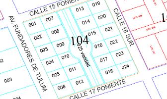 Foto de terreno habitacional en venta en manzana 104 lote 07 region 15 , villas tulum, tulum, quintana roo, 0 No. 01