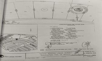 Foto de terreno habitacional en venta en miguel miramon 33, lomas verdes 6a sección, naucalpan de juárez, méxico, 0 No. 01