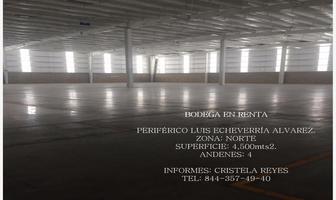 Foto de bodega en renta en parque industrial las torres a, satélite sur, saltillo, coahuila de zaragoza, 8605657 No. 01