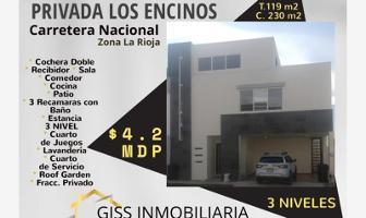 Foto de casa en venta en privada los encinos 118, hacienda los encinos, monterrey, nuevo león, 9185719 No. 01