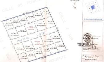 Foto de terreno habitacional en venta en  , region 15 kukulcan, tulum, quintana roo, 8985124 No. 01