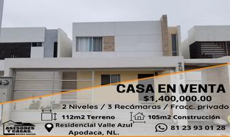 Foto de casa en venta en  , residencial valle azul, apodaca, nuevo león, 0 No. 01