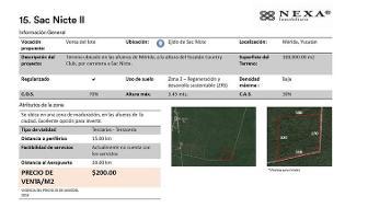 Foto de terreno habitacional en venta en  , sac-nicte, mérida, yucatán, 11704571 No. 01