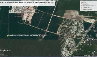 Foto de terreno habitacional en venta en supermanzana 334, manzana 25, lote 09 0 , cancún centro, benito juárez, quintana roo, 10029768 No. 01