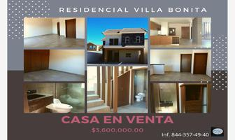 Foto de casa en venta en villa bonita a, villa bonita, saltillo, coahuila de zaragoza, 12378825 No. 01