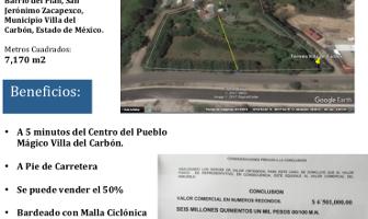 Foto de terreno habitacional en venta en  , villa del carbón, villa del carbón, méxico, 3310428 No. 01