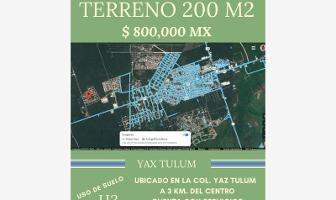 Foto de terreno habitacional en venta en yax tulum , tulum centro, tulum, quintana roo, 11187636 No. 01