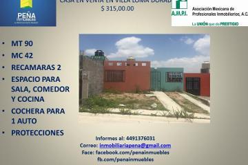 Foto de casa en venta en  104, villa loma dorada, aguascalientes, aguascalientes, 2218002 No. 01