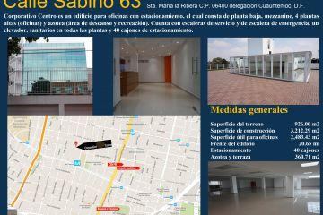 Foto de edificio en venta en Santa Maria La Ribera, Cuauhtémoc, Distrito Federal, 1534631,  no 01