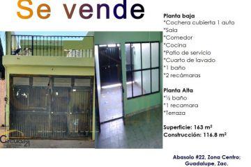 Foto de casa en venta en abasolo 22, guadalupe centro, guadalupe, zacatecas, 2391110 no 01