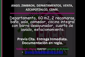 Foto de departamento en venta en  , angel zimbron, azcapotzalco, distrito federal, 2957404 No. 01