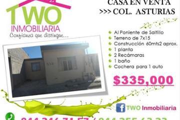 Foto de casa en venta en  , asturias, saltillo, coahuila de zaragoza, 0 No. 01