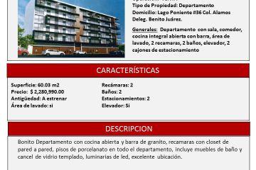 Foto de departamento en venta en Álamos, Benito Juárez, Distrito Federal, 2913841,  no 01