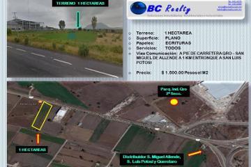 Foto de terreno industrial en venta en carretera san miguel de allende-queretaro 500, san isidro buenavista, querétaro, querétaro, 0 No. 01