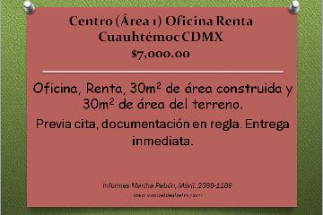 Foto de oficina en renta en  , centro (área 1), cuauhtémoc, distrito federal, 1117299 No. 01