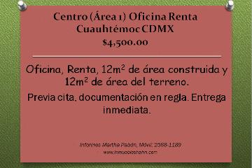 Foto de oficina en renta en  , centro (área 1), cuauhtémoc, distrito federal, 1302021 No. 01