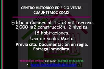 Foto de edificio en venta en  , centro (área 1), cuauhtémoc, distrito federal, 2844454 No. 01
