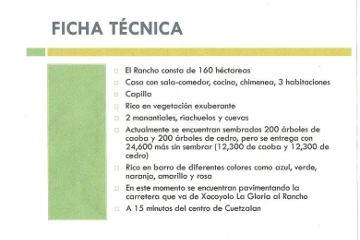 Foto de rancho en venta en  , cuetzalan del progreso, cuetzalan del progreso, puebla, 2279131 No. 01