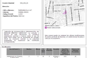 Foto de terreno habitacional en venta en  , daniel garza, miguel hidalgo, distrito federal, 1182131 No. 01