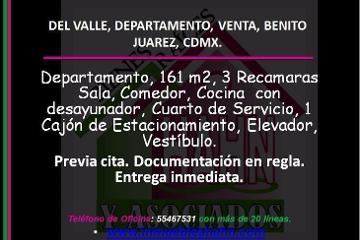 Foto de departamento en venta en  , del valle norte, benito juárez, distrito federal, 2793611 No. 01