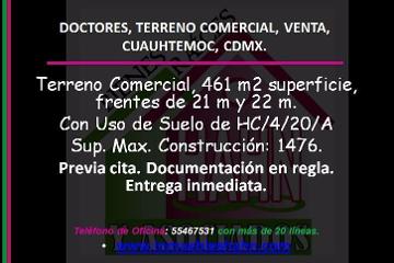 Foto de terreno comercial en venta en  , doctores, cuauhtémoc, distrito federal, 2804944 No. 01