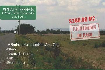 Foto de terreno comercial en venta en  , el sáuz alto, pedro escobedo, querétaro, 3027539 No. 01