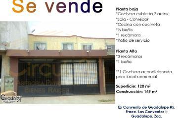 Foto de casa en venta en ex convento de guadalupe 5, los conventos, guadalupe, zacatecas, 2391172 no 01
