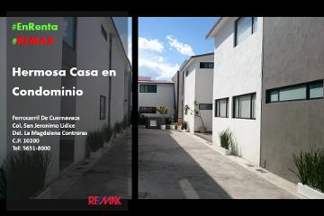 Foto de casa en condominio en renta en ferrocarril de cuernavaca 2717, san jerónimo lídice, la magdalena contreras, distrito federal, 2956750 No. 01